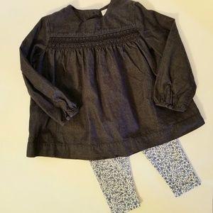 Ralph Lauren Matching Sets - NWOT Ralph Lauren Baby Girl Chambray Top 24M